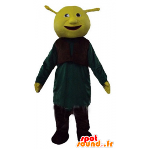 Maskot Shrek, slavný zelený zlobr karikatura - MASFR23769 - Shrek Maskoti
