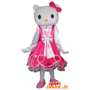 Mascot Hello Kitty, kuuluisa valkoinen kissa sarjakuva - MASFR23778 - Hello Kitty Maskotteja