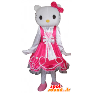 Maskottchen Hallo Kitty, der berühmte weiße Katzen-Karikatur - MASFR23778 - Maskottchen Hello Kitty