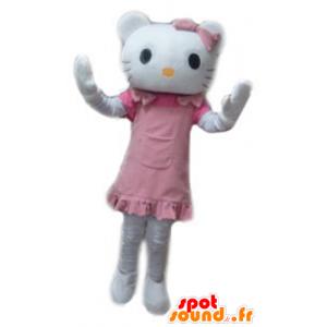Mascot Hello Kitty, kuuluisa valkoinen kissa sarjakuva - MASFR23784 - Hello Kitty Maskotteja