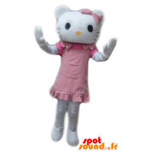 Maskottchen Hallo Kitty, der berühmte weiße Katzen-Karikatur - MASFR23784 - Maskottchen Hello Kitty