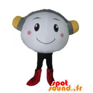 Mascotte vrolijke blanke man met een koptelefoon - MASFR23810 - Niet-ingedeelde Mascottes