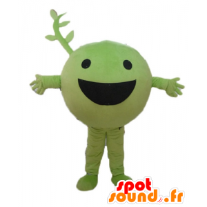 Mascot peas, fruit, green vegetable, cheerful - MASFR23847 - Mascots for fruit and vegetables