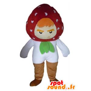 Strawberry Maskottchen, der wilde und lustige Luft - MASFR23854 - Obst-Maskottchen