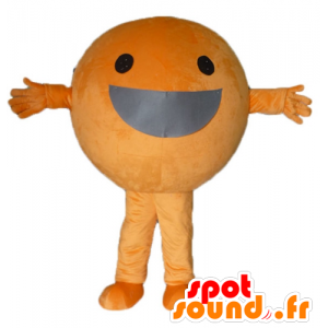 Giant oranje mascotte, all round en glimlachend - MASFR23855 - fruit Mascot