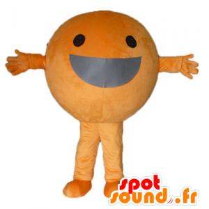 Riesen-orange-Maskottchen, jede Runde und lächelnd - MASFR23855 - Obst-Maskottchen