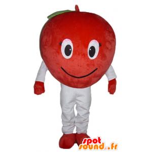Apple-Maskottchen Roten Riesen und lächelnd - MASFR23861 - Obst-Maskottchen