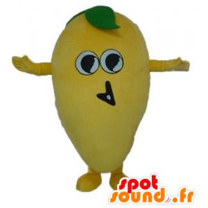Und lustigen riesigen Zitrone Maskottchen - MASFR23867 - Obst-Maskottchen