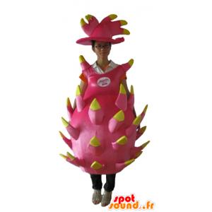Fruit Maskottchen rosa und gelbe Drachen, Riesen- - MASFR23872 - Maskottchen für Obst und Gemüse