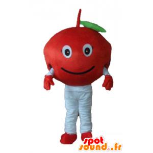 Mascot Kirschrot nette und lächelnde - MASFR23880 - Obst-Maskottchen