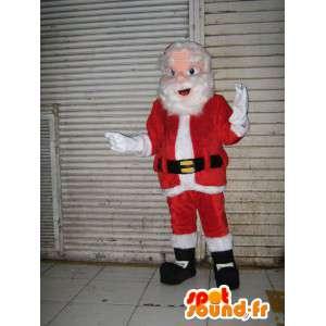 Pai mascote gigante de Natal. traje de Santa