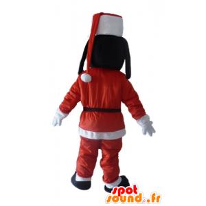 Mascotte de Dingo, ami de Mickey, en tenue de Père-Noël - MASFR23905 - Mascottes Dingo