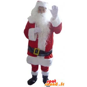 Weihnachtsmann verkleidet, mit dem Bart und allem Zubehör - MASFR23908 - Weihnachten-Maskottchen