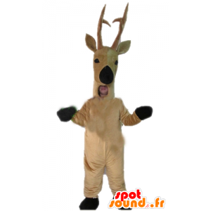 Mascot hirvi, peura, ruskea poro - MASFR23911 - Stag ja Doe Mascots