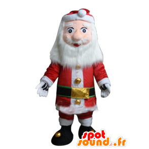 Mascotte Weihnachtsmann verkleidet in rot und weiß, mit einem Bart - MASFR23917 - Weihnachten-Maskottchen