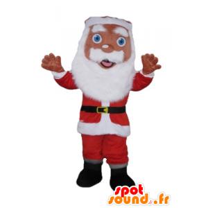 Mascotte Santa Claus vestido de rojo y blanco, con barba - MASFR23929 - Mascotas de Navidad