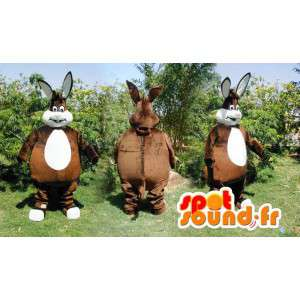 Mascot big brown and white rabbit. Brown rabbit costume - MASFR006576 - Rabbit mascot