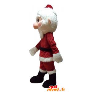 Mascot Joulupukki pukeutunut punaiseen ja valkoinen parta - MASFR23930 - joulun Maskotteja