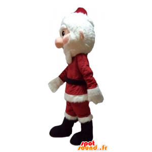 Mascotte Weihnachtsmann verkleidet in rot und weiß, mit einem Bart - MASFR23930 - Weihnachten-Maskottchen