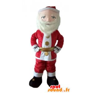Mascotte Weihnachtsmann verkleidet in rot und weiß, mit einem Bart - MASFR23932 - Weihnachten-Maskottchen