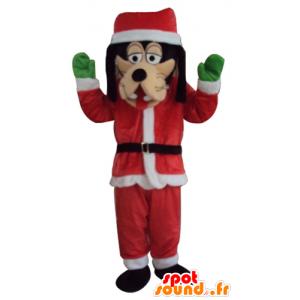 Mascotte de Dingo, habillé en tenue de Père-Noël - MASFR23941 - Mascottes Dingo