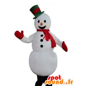 Mascot pupazzo di neve abbastanza bianco, allegro - MASFR23945 - Mascotte non classificati
