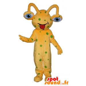 Geel alien mascotte groene erwten - MASFR23950 - Niet-ingedeelde Mascottes