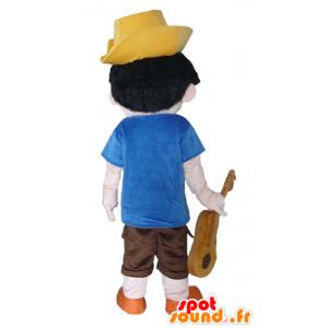 Mascote de Pinóquio, o personagem de desenho animado famosa