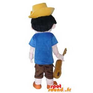Pinocchio mascot, famous cartoon character