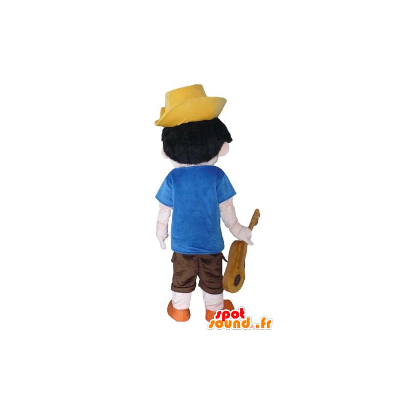 Mascotte de Pinocchio, célèbre personnage de dessin animé - MASFR23969 - Mascottes Pinocchio
