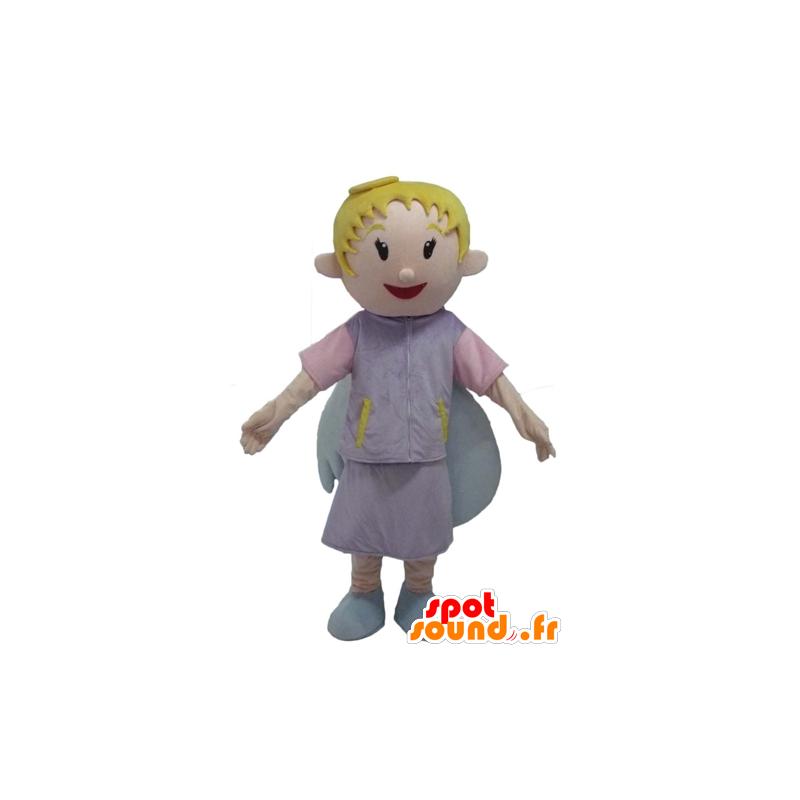 Engels-Maskottchen, blonde, Lächeln, mit hübschen Flügeln - MASFR23979 - Maskottchen-Fee