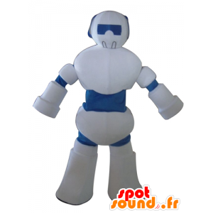 Maskottchen-weiß und blau-Roboter, Riesen - MASFR23995 - Maskottchen der Roboter