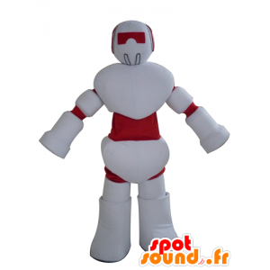マスコットの赤と白のロボット、巨大な