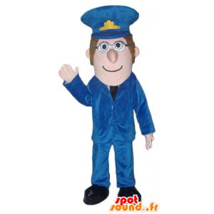 Zookeeper Maskottchen, ein Mann in Uniform, Polizist - MASFR24003 - Menschliche Maskottchen