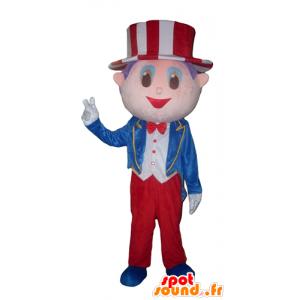 Mascot Showman, mit einem Anzug und einem Hut - MASFR24015 - Menschliche Maskottchen