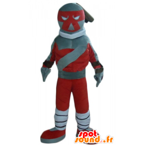Spielzeug Maskottchen, rot und grau Roboter