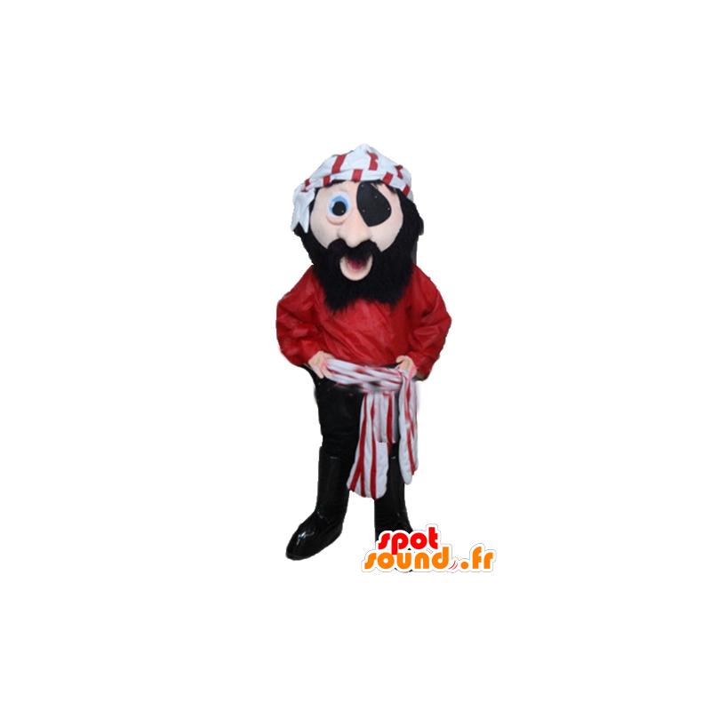Pirate Mascot rode jurk, zwart en wit - MASFR24034 - mascottes Pirates