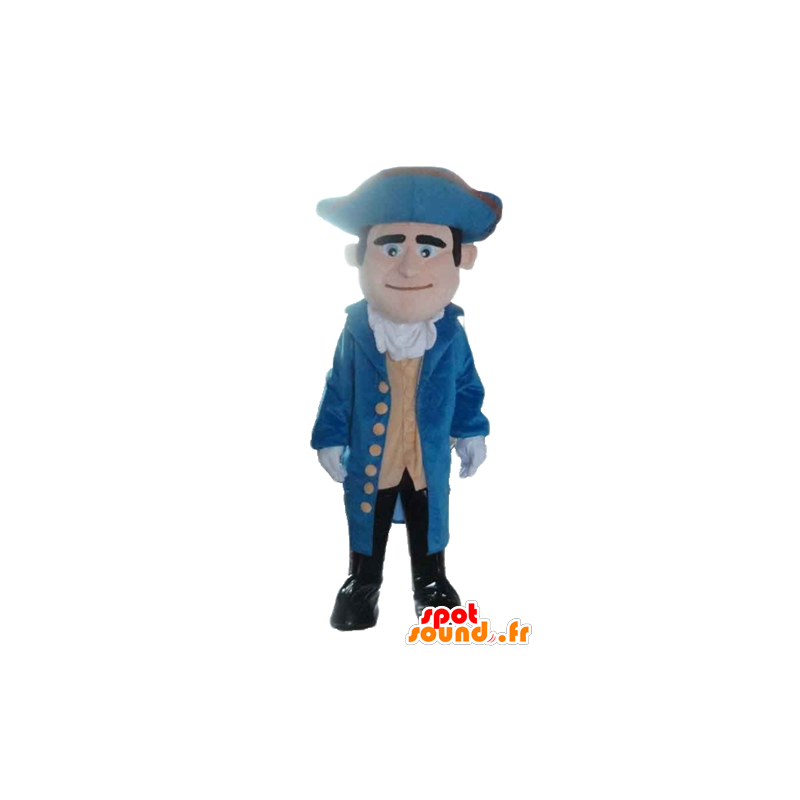 Soldier mascot, vintage blue and yellow dress - MASFR24036 - Mascots of soldiers