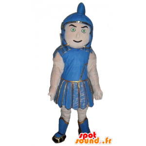 Gladiator mascotte, traditionele blauwe jas - MASFR24042 - mascottes Soldiers
