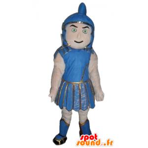 Mascotte de gladiateur, en habit traditionnel bleu - MASFR24042 - Mascottes de Soldats