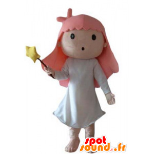 Mascote pequena menina, fada, mágico - MASFR24048 - fadas Mascotes