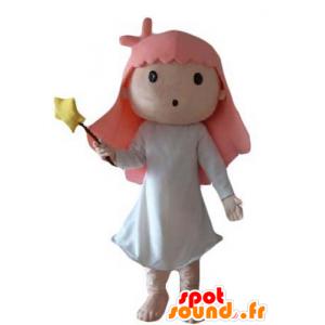 Pikkutyttö maskotti, keiju, taikuri - MASFR24048 - keiju Maskotteja