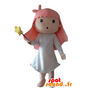 Little girl mascot, fairy, magician - MASFR24048 - Mascots fairy