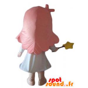 Kleines Mädchen, das Maskottchen, fee, Zauberer - MASFR24048 - Maskottchen-Fee