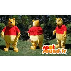 Μασκότ Winnie the Pooh, διάσημα κίτρινα αρκούδα