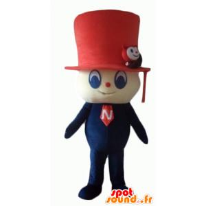 Snowman maskotka z czerwonym top hat kształtu - MASFR24058 - Niesklasyfikowane Maskotki