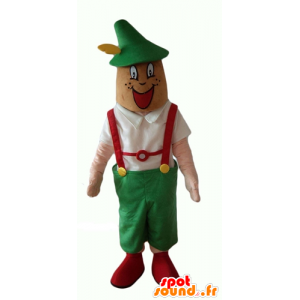 Tyrolean mascot in traditional dress Austria