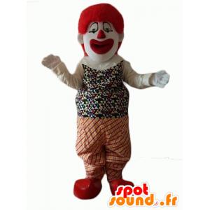 Bardzo realistyczny i efektowny clown maskotka - MASFR24073 - maskotki Circus