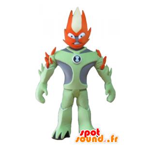 Fantástico Mascota del carácter verde y naranja - MASFR24076 - Mascotas sin clasificar