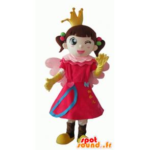 Mascotte de petite fille, de princesse, de fée - MASFR24081 - Mascottes Fée